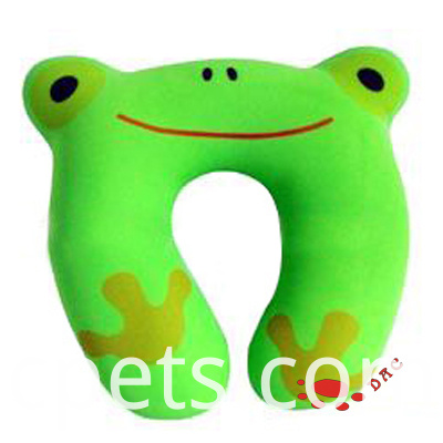 own design plush frog neck pillow